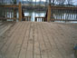 Deck with dried mud before cleaning